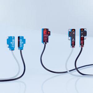 sensor fotoeléctrico en miniatura / con supresión de fondo / de tipo barrera / rectangular