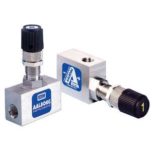 válvula de aguja / de control de caudal / de cierre / para aire