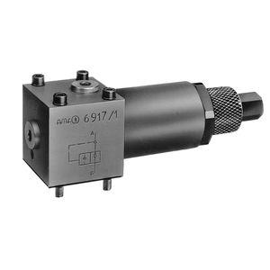 válvula de pistón / con control hidráulico / de reducción de presión / de cierre