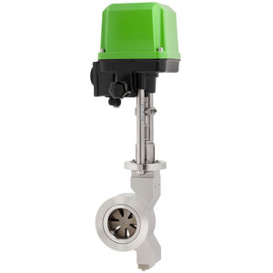 válvula de disco / con mando eléctrico / de regulación / para gas