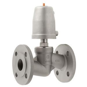 válvula de brida / con chapaleta / con control neumático / de cierre