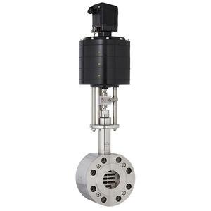 válvula de cuchilla / manual / con actuador eléctrico / electroneumática