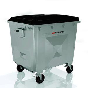 contenedor de residuos de acero galvanizado / para residuos urbanos / para reciclaje / con tapa