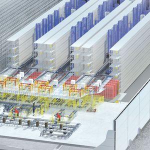 sistema de almacenamiento automático vertical / horizontal / para almacén