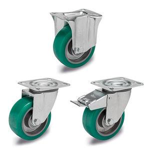 rueda con aro / de poliuretano / para baja carga