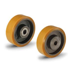 rueda con aro / de poliuretano / para cargas pesadas