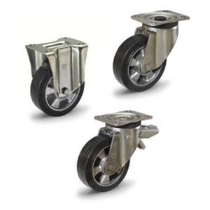 rueda con aro / de caucho / de aluminio / de manipulación