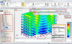 software análisis de estructuras / de ingeniería / de modelización / de diseño