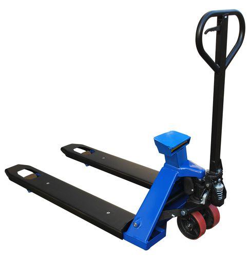 transpaleta manual / hidráulica / de pesaje / de acero