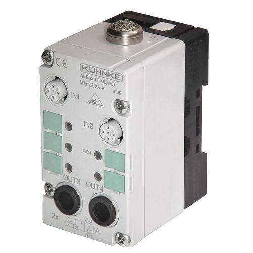 electroválvula en módulo