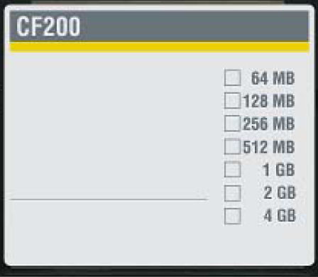 tarjeta de memoria CompactFlash / 4 GB