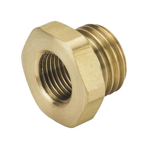 adaptador hidráulico / para tubos / roscado / de latón