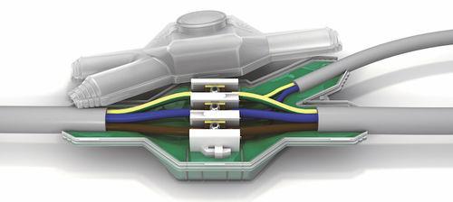 conexión de cables aislada / estanca / de plástico / para cable