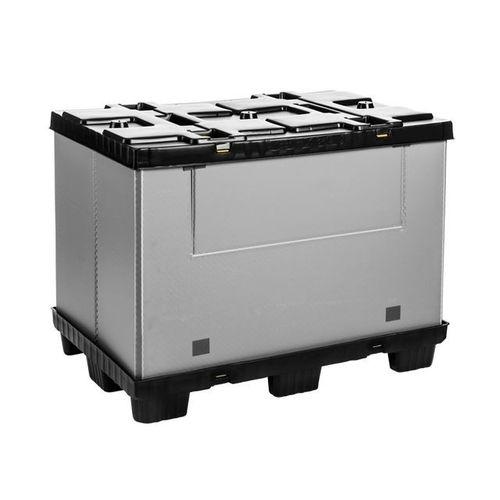 caja-palé de PEAD / de PP / para almacenamiento / plegable