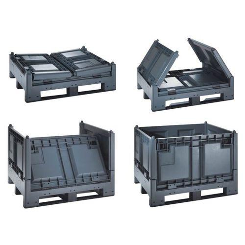 caja-palé de PEAD / organizadora / de transporte / plegable