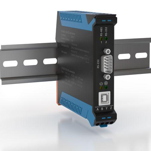convertidor en serie / USB / en riel DIN / robusto