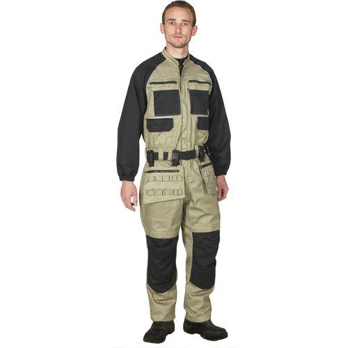 traje de trabajo / impermeable / de algodón / de tejido repelente al agua