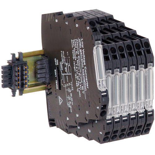 convertidor tensión / corriente / en riel DIN / compacto