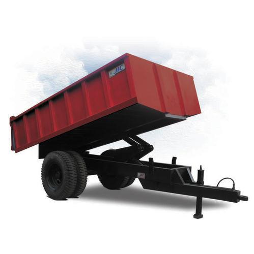 remolque de 2 ejes / para equipamiento industrial / plataforma / volquete