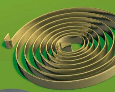Resorte espiral plano