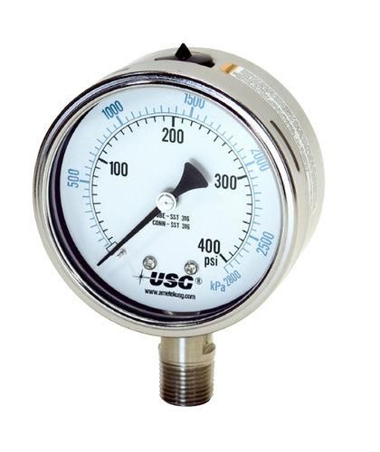 manómetro de esfera / de tubo Bourdon de líquido / de proceso / para HVAC