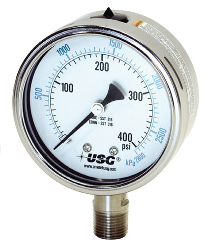 manómetro analógico / de tubo Bourdon de líquido / de proceso / para vacío