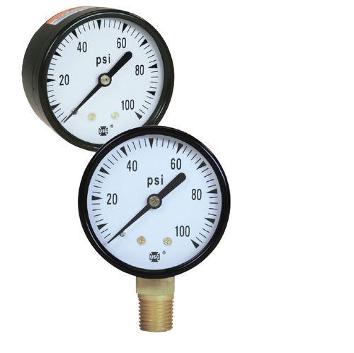 manómetro de esfera / de tubo Bourdon / de proceso / para agua