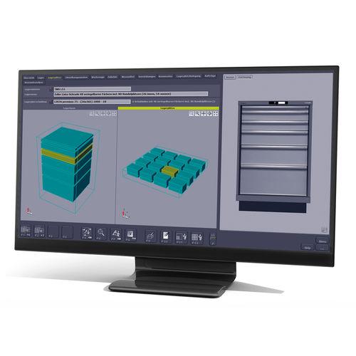 software de gestión de almacenes WMS / para de gestión de herramienta / de control de calidad / de gestión de datos