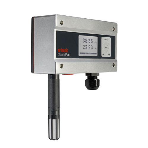 sensor de temperatura y de humedad relativa / de pared / instalado en conducto / para HVAC