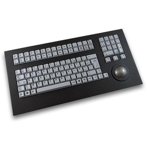 teclado empotrable / de tecla mecánica / 105 teclas / con trackball