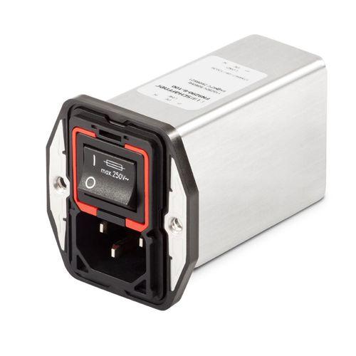 módulo de inserción con filtro EMI / con interruptor / de fusible / de doble piso