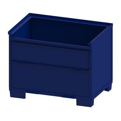 cajón de metal / para almacenamiento / de protección / para productos a granel