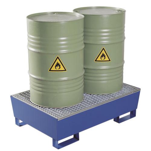 cubeta de retención para barriles / de acero / rígida