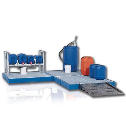 plataforma para retención de polietileno