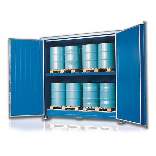 container de metal / para almacenamiento / con aislamiento térmico