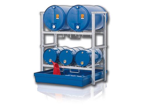 cubeta de retención para barriles / de acero / de polietileno / rígida