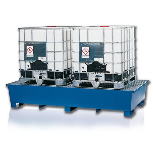 cubeta de retención para contenedor IBC / de acero / de polietileno / rígida