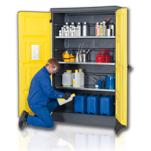 armario de almacenamiento / de taller / de pie / con estantes