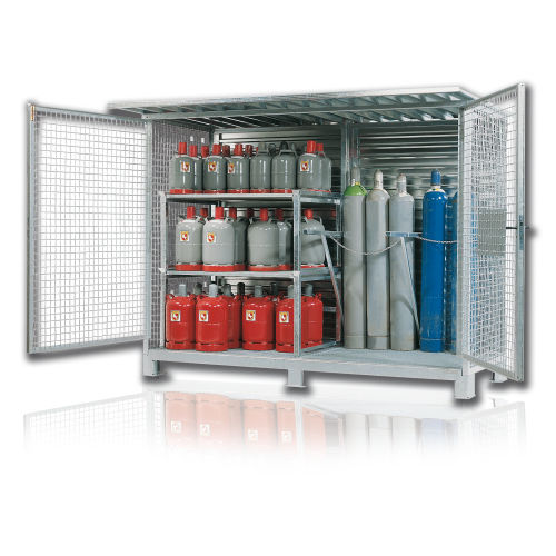armario de almacenamiento / de taller / de pie / con puertas dobles
