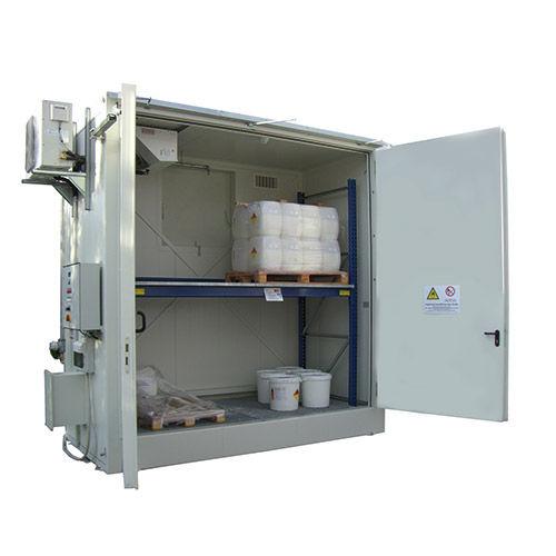 armario de almacenamiento / de pie / de puertas batientes / ignifugado