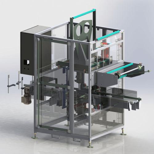 aplicador de etiquetas automático / para manguito estirable / para la industria farmacéutica / para la industria alimentaria