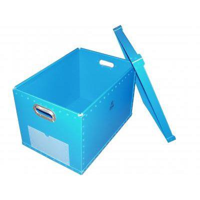 cajón de polipropileno / para almacenamiento / con asideros / con tapa