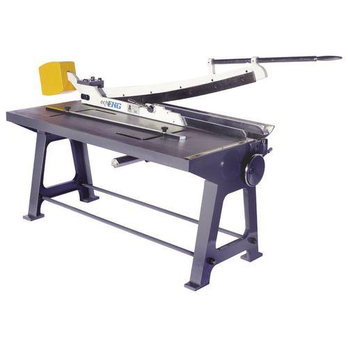 cizalla manual / para chapa / guillotina