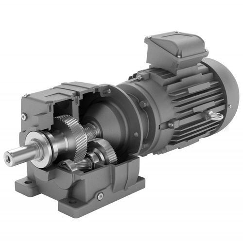 motorreductor monofásico / de engranaje helicoidal / coaxial / compacto