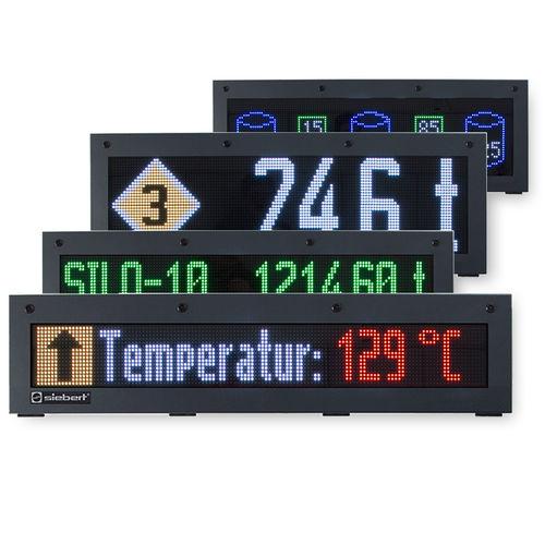visualizador LED / alfanumérico / de matriz de puntos / digital