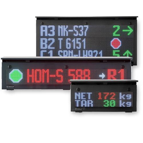 visualizador LED / con gráficos de barra / de matriz de puntos / a color