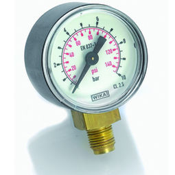manómetro de esfera / de tubo Bourdon / de proceso / roscado