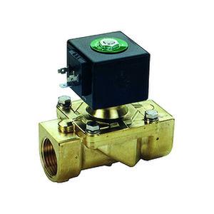 electroválvula de control asistido / de 2/2 vías / normalmente abierta / normalmente cerrada