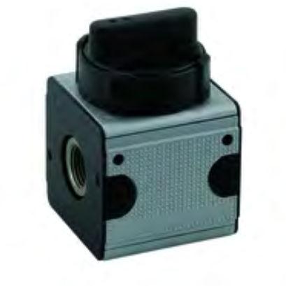 válvula de bola / con control neumático / de 2/3 vías