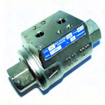 válvula de bola / con control neumático / de bloqueo / para agua caliente